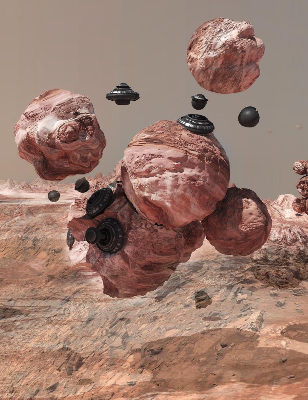 Spray Foam Habitat on Mars built by Semi-Autonomous Drone Robots