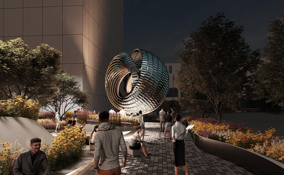""" Hole Zero + Timeless Kinetic Art Sculpture"""